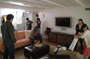 Today's location-our living room.