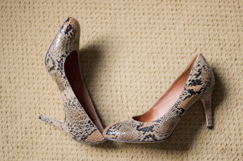 outfit recipe-snakeskin heels